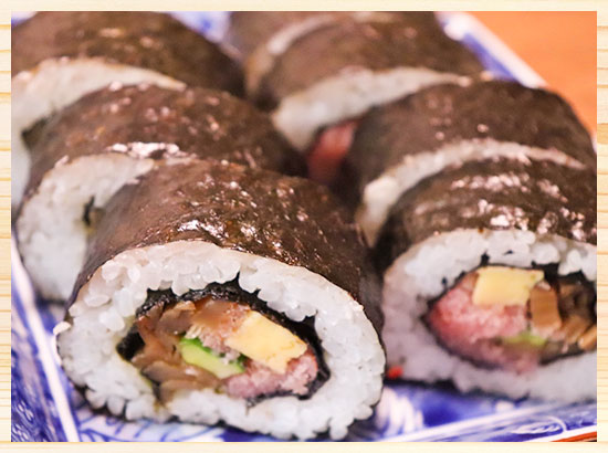 太巻鮨と棒鮨
